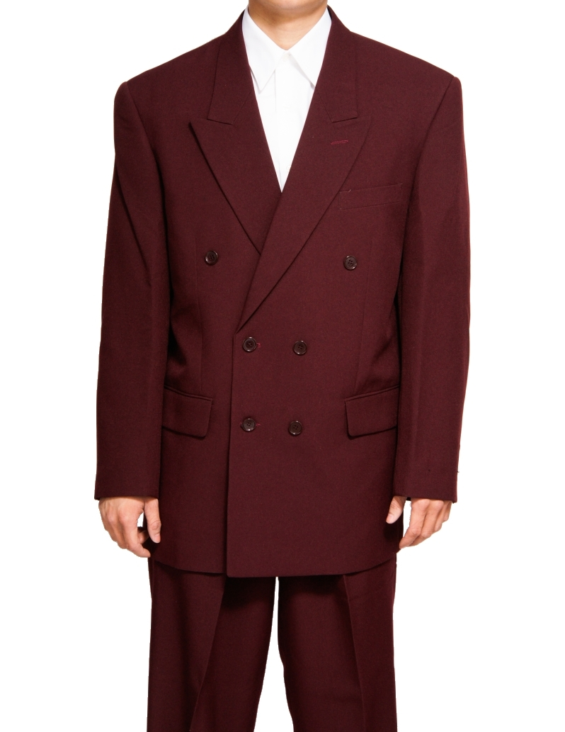 New Era Factory Outlet, Inc. New Mens Double Breasted (DB) Six Button Formal Burgundy / Maroon (Deep Red) Dress Suit - Includes Jacket and Pants at Sears.com