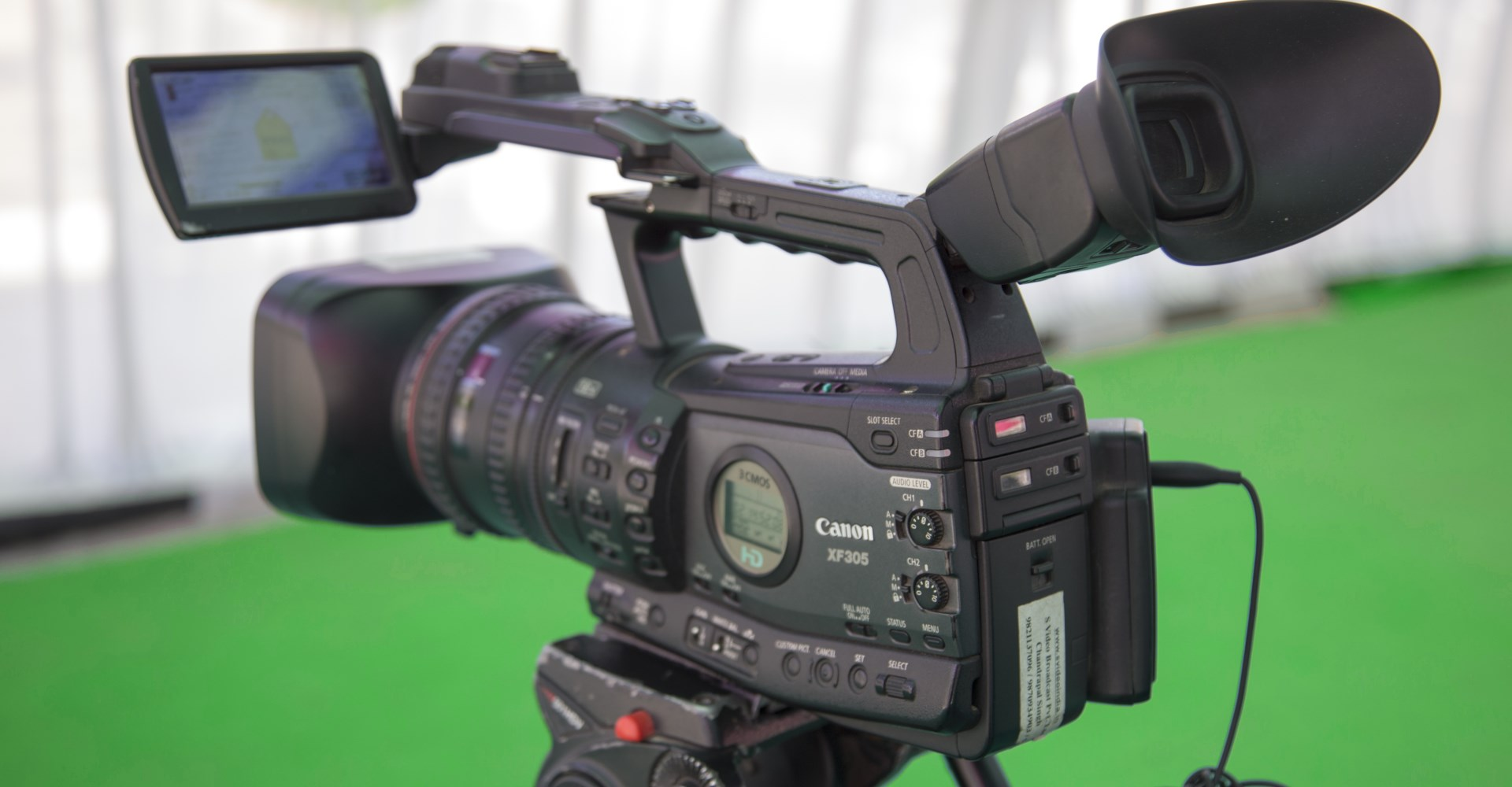 on-set video production with camera