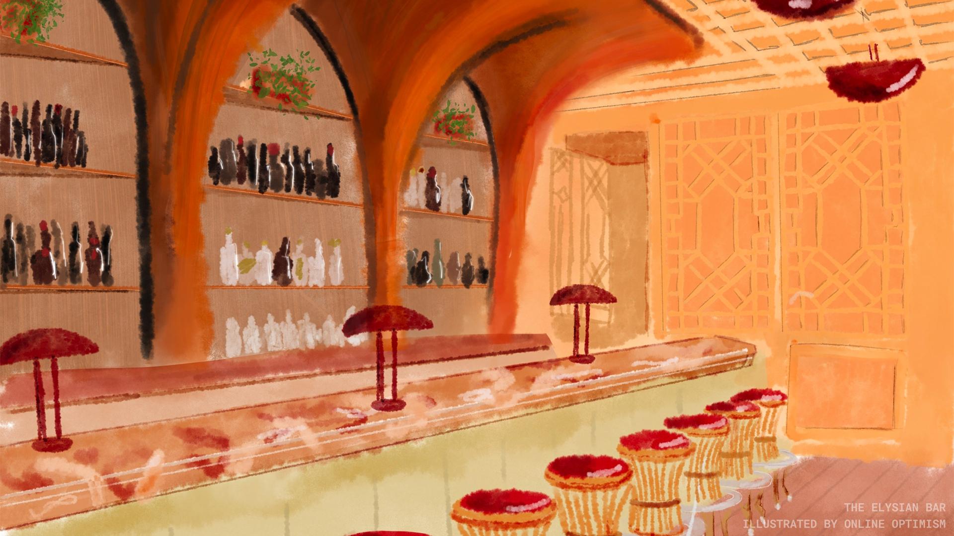 The Elysian Bar Zoom Background